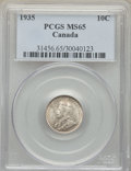 Canada, George V 10 Cents 1935 MS65 PCGS,...