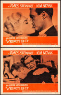 "Movie Posters:Hitchcock, Vertigo (Paramount, 1958). Very Fine. Lobby Cards (2) (11"" X 14""). Hitchcock.. ... (Total: 2 Items)"
