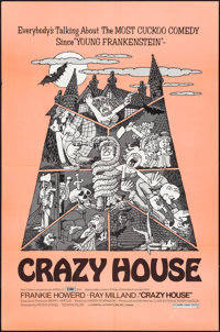 "The House in Nightmare Park (Anglo-EMI, 1973). Folded, Very Fine. One Sheet (27"" X 41"") Alternate Title: Crazy..."