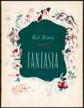 """Movie Posters:Animation, Fantasia & Other Lot (Buena Vista, 1940/R-1977). Overall: Very Fine. Programs (5) (Multiple Pages, 9.5"""" X 12.5"""", 8.75"""" X 8.7... (Total: 23 Items)"""
