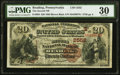 National Bank Notes:Pennsylvania, Reading, PA - $20 1882 Brown Back Fr. 504 The Second NB Ch. # (E)2552 PMG Very Fine 30.. ...