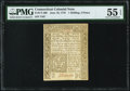 Colonial Notes:Connecticut, Connecticut June 19, 1776 1s 3d PMG About Uncirculated 55 ...