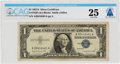 Explorers:Space Exploration, Currency: $1 1957A Silver Certificate Fr. 1620 (AA Block), PMG Very Fine 25, Directly From The Armstrong Family Collection...
