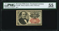 Fractional Currency:Fifth Issue, Fr. 1309 25¢ Fifth Issue PMG About Uncirculated 55.
