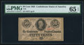 Confederate Notes:1863 Issues, T63 50 Cents 1863 PF-2 PMG Gem Uncirculated 65 EPQ.. ...