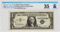 Explorers:Space Exploration, Currency: $1 1957A Silver Certificate Fr. 1620 (EA Block), PMG Choice Very Fine 35, Directly From The Armstrong Family Col...