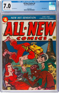 All-New Comics #4 (Harvey Publications, 1943) CGC FN/VF 7.0 Off-white to white pages
