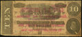 Obsoletes By State:Virginia, Richmond, VA- C.F. Johnston- Political Campaign Note on T-68Confederate Note $10 ca. 1887-88 Very Good-Fine.. ...