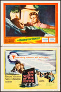 """Movie Posters:Film Noir, The Night of the Hunter (United Artists, 1955). Very Fine-. TitleLobby Card & Lobby Card (11"""" X 14""""). Film Noir.. ..."""
