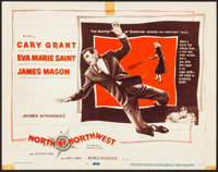 "North by Northwest (MGM, 1959). Very Fine-. Title Lobby Card (11"" X 14""). Hitchcock"