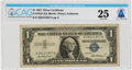 Explorers:Space Exploration, Currency: $1 1957 Silver Certificate Fr. 1619 (XA Block), PMG Very Fine 25, Directly From The Armstrong Family Collection™...