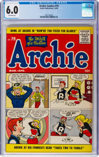 Archie Comics #79 (Archie, 1956) CGC FN 6.0 Off-white pages