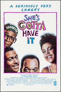 "She's Gotta Have It & Other Lot (Island, 1986). Folded, Very Fine+. One Sheets (3) (27"" X 41"" &amp..."