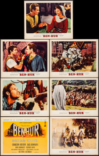 "Ben-Hur (MGM, 1959). Very Fine-. Title Lobby Card & Lobby Cards (6) (11"" X 14""). Joseph Smith Title Ca..."