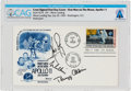 "Explorers:Space Exploration, Apollo 11 Crew-Signed ""First Man On The Moon"" First Day Cover Directly From The Armstrong Family Collection™, CAG Cert..."