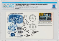 "Apollo 11 Crew-Signed ""First Man On The Moon"" First Day Cover Directly From The Armstrong Family Collec"