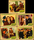 "Movie Posters:Crime, Accidents Will Happen (Warner Brothers, 1938). Very Fine-. LinenFinish Lobby Cards (5) (11"" X 14""). Crime.. ... (Total: 5 Items)"