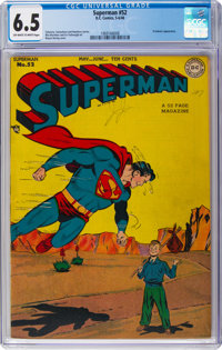 Superman #52 (DC, 1948) CGC FN+ 6.5 Off-white to white pages