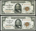 Small Size:Federal Reserve Bank Notes, Fr. 1880-D $50 1929 Federal Reserve Bank Notes. Two Examples. Very Fine-Extremely Fine or Better.. ... (Total: 2 notes)