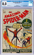 Silver Age (1956-1969):Superhero, The Amazing Spider-Man #1 (Marvel, 1963) CGC VF 8.0 White pages....