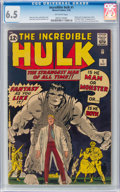 Silver Age (1956-1969):Superhero, The Incredible Hulk #1 (Marvel, 1962) CGC FN+ 6.5 Off-white pages....