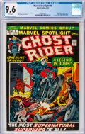Bronze Age (1970-1979):Superhero, Marvel Spotlight #5 Ghost Rider (Marvel, 1972) CGC NM+ 9.6 White pages....