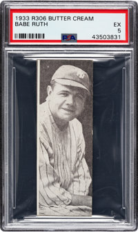 1933 Butter Cream Babe Ruth PSA EX 5 - A Relic of Hobby History