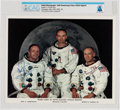 Explorers:Space Exploration, Apollo 11: Neil Armstrong and Buzz Aldrin Signed, Uninscribed WhiteSpacesuit Color Photo Directly From The Armstrong Fami...