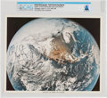 "Explorers:Space Exploration, Neil Armstrong Signed ""Apollo 16 View of Earth"" Color Photo Directly From The Armstrong Family Collection™, CAG Certified...."