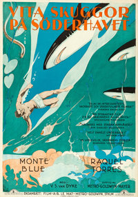"White Shadows in the South Seas (MGM, 1929). Folded, Very Fine. Swedish One Sheet (27.5"" X 39.5"") Eric Rohman..."