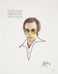 Music Memorabilia:Original Art, Elton John Signed Greatest Hits 1970-2002 Limited Litho (2002).. ...