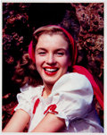 """Movie/TV Memorabilia:Photos, Marilyn Monroe """"Norma Jeane"""" Color Photo Made from Original Negative and Signed by Photographer.. ..."""