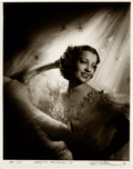 Movie/TV Memorabilia:Photos, Jeanette MacDonald Black and White Photo Made from Original Negative Hand Signed by Photographer (1935).. ...