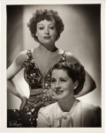 "Movie/TV Memorabilia:Photos, Joan Crawford ""Crawford - Shearer"" Black and White Picture Signed by Photographer.. ..."