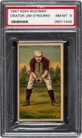 Baseball Cards:Singles (Pre-1930), 1887 N284 Buchner Gold Coin Jim O'Rourke (Hands Cupped) PSA NM-MT 8 - Pop One, None Higher. ...