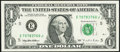 Error Notes:Offsets, 100% Face to Back Offset Error Fr. 1921-E $1 1995 Federal Reserve Note. About Uncirculated.. ...