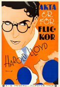 Movie Posters:Comedy, Girl Shy (Frivergs Filmbyra, 1924). Folded, Very Fine/Near...