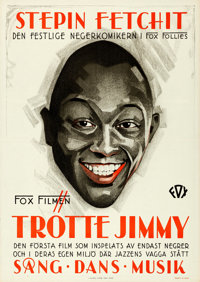 "Hearts in Dixie (Fox, 1929). Folded, Very Fine+. Swedish One Sheet (28"" X 39.5"")"