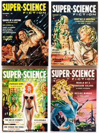 Super-Science Fiction Complete Series Group (Headline Publications, 1956-59) Condition: Average VF.... (Total: 18 Items)