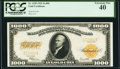 Fr. 1220 $1,000 1922 Gold Certificate PCGS Extremely Fine 40