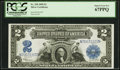 Large Size:Silver Certificates, Fr. 258 $2 1899 Silver Certificate PCGS Superb Gem New 67PPQ.. ...