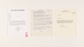"Music Memorabilia:Documents, Elton John/Bernie Taupin ""Skyline Pigeon"" Handwritten Song Lyrics (1968). . ..."