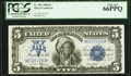 Large Size:Silver Certificates, Fr. 281 $5 1899 Silver Certificate PCGS Gem New 66PPQ.. ...