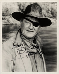 John Wayne Signed and Inscribed Black and White Photo