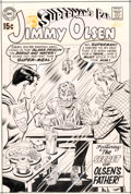 Original Comic Art:Covers, Curt Swan and Murphy Anderson Superman's Pal, Jimmy Olsen #124 Cover Original Art (DC, 1969)....