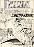 """Original Comic Art:Panel Pages, Murphy Anderson Hawkman #9 """"Master Trap of the Matter Master!"""" Part 1 Original Art Group of 8 (DC, 1965).... (Total: 9 Original Art)"""