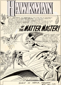 "Murphy Anderson Hawkman #9 ""Master Trap of the Matter Master!"" Part 1 Original Art Group of 8 (DC, 1965).... (..."