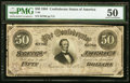 Confederate Notes:1864 Issues, T66 $50 1864 PF-12 Cr. 501 PMG About Uncirculated 50.. ...