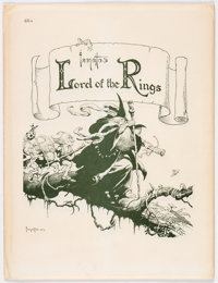 Frank Frazetta Lord of the Rings Signed Limited Edition Portfolio #664/1000 (Middle Earth, 1975)