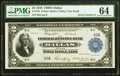Large Size:Federal Reserve Bank Notes, Serial Number K6A Fr. 776 $2 1918 Federal Reserve Bank Note PMG Choice Uncirculated 64.. ...